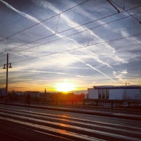Photo taken at S Warschauer Straße by moeffju on 10/29/2012
