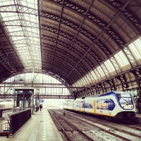 Photo taken at Amsterdam Centraal Railway Station by Anne Jan R. on 6/28/2013