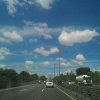 Photo taken at Jalan Tol Ir. Wiyoto Wiyono, M.Sc. by DJ F. on 4/26/2015