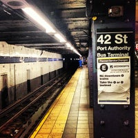 Photo taken at MTA Subway - 42nd St/Times Square/Port Authority Bus Terminal (A/C/E/N/Q/R/S/1/2/3/7) by Tiago C. on 7/21/2013