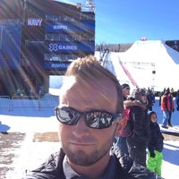 Photo taken at X-Games TV Compound by Adam K. on 1/24/2014