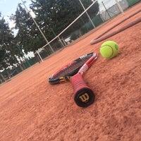 Photo taken at Tennis Club De L'Avenir Sportif De La Marsa by Ousema J. on 9/4/2015