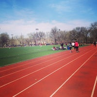 Photo taken at McCarren Park Track by Chris B. on 4/7/2013