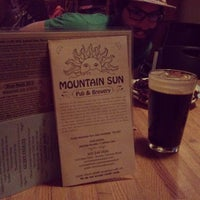 Photo taken at Mountain Sun Pub & Brewery by James B. on 2/11/2013