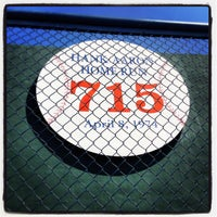 Photo taken at Hank Aaron 715 Home Run Marker by Justin M. on 9/6/2013