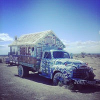 Photo taken at Salvation Mountain by Marcos L. on 3/8/2013