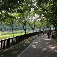Photo taken at Yuldong Park by bawoo on 9/1/2013