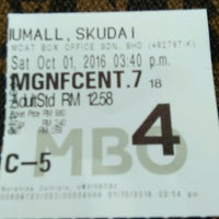 Photo taken at MBO Cinemas by Marina N. on 10/1/2016