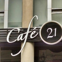 Photo taken at Cafe 21 by Gsus E. on 9/11/2015