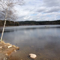 Photo taken at Sognsvann by Vegard K. on 5/11/2013