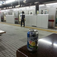 Photo taken at Yurakucho Line Shin-kiba Station (Y24) by Tommy M. on 4/23/2013