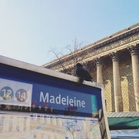 Photo taken at Métro Madeleine [8,12,14] by Renke Y. on 2/21/2013