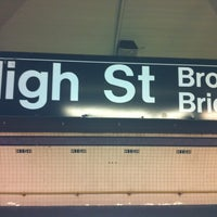 Photo taken at MTA Subway - High St/Brooklyn Bridge (A/C) by Sherry T. on 11/11/2012