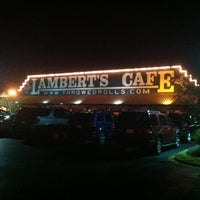 Photo taken at Lambert's Cafe by Nick B. on 11/10/2012
