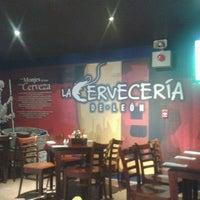 Photo taken at La Cervecería de León by Moises R. on 4/4/2013