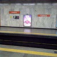 Photo taken at MetrôRio - Estação Carioca by Aldo M. on 3/9/2013