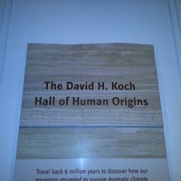 Photo taken at David H. Koch Hall of Human Origins by Dave K. on 8/17/2012