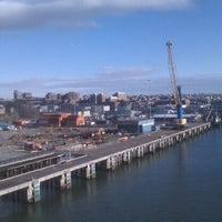 Photo taken at Casco Bay Bridge by Corey T. on 2/25/2012