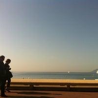 Photo taken at Boulevard de La Croisette by Kenji I. on 3/24/2012