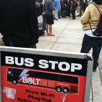 Photo taken at Bolt Bus Baltimore Stop by Jeong C. on 10/2/2011