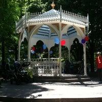 Photo taken at Washington Market Park by Jason T. on 6/16/2012