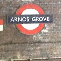 Photo taken at Arnos Grove London Underground Station by Dawn M. on 6/7/2012