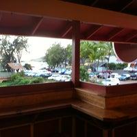 Photo taken at Kalapaki Beach Hut Burgers by Adam T. on 8/10/2012