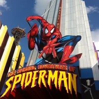 Photo taken at The Amazing Adventures of Spider-Man by Jason H. on 6/10/2012