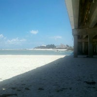 Photo taken at Matanzas Inlet Under The Bridge On The Beach by Larry H. on 7/14/2012
