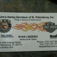 Photo taken at Jim's Harley-Davidson of St. Petersburg by Ryan L. on 2/17/2012