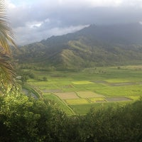 Photo taken at Hanalei Valley Lookout by Cari W. on 9/11/2012