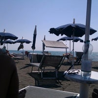 Photo taken at Spiaggia del Gabbiano by Alessio D. on 9/8/2012