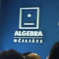 Photo taken at Visoko učilište Algebra by Stefan T. on 6/12/2012