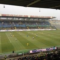 Photo taken at Stadio Ennio Tardini by Alberto E. on 1/15/2012