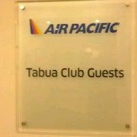 Photo taken at Fiji Airways Tabua Lounge by James P. on 3/21/2012