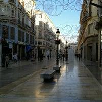 Photo taken at Marqués de Larios Street by Pedro P. on 11/15/2011