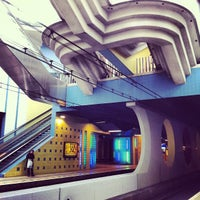 Photo taken at Station Rotterdam Blaak by Gabi H. on 4/1/2012