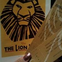 Photo taken at THE LION KING in Las Vegas by Lauren B. on 12/7/2011