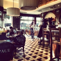 Photo taken at Paul Bakery Cafe by Rie K. on 3/2/2012