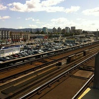 Photo taken at West Oakland BART Station by Jordan Towers on 4/4/2012