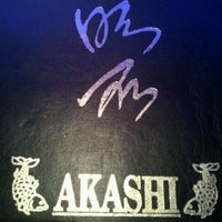Photo taken at Akashi Japanese Restaurant by Edward E. on 1/22/2012