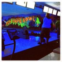 Photo taken at New Hope Bowl & Lounge by Tif H. on 3/4/2012