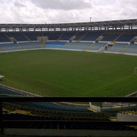 Photo taken at Estadio Monumental de Maturín by Mauricio M. on 7/11/2012