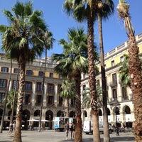 Photo taken at Plaça Reial by Tajana K. on 8/14/2012