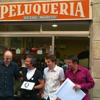 Photo taken at Barbería Vicenç Moretó by Vicenç M. on 11/18/2011