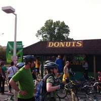 Photo taken at St. Louis Hills Donut Shop by Bryce C. on 4/15/2012