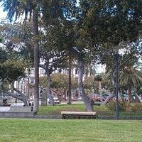 Photo taken at Parque San Telmo by Carmen V. on 8/19/2011