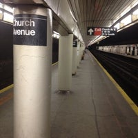 Photo taken at MTA Subway - Church Ave (B/Q) by Manuel B. on 2/12/2012
