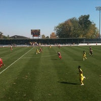 Photo taken at U-M Soccer Complex by Ginny C. on 10/9/2011