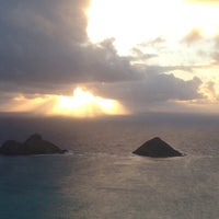 Photo taken at Lanikai Pillboxes Hike by Carrie M. on 4/29/2012